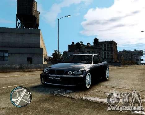 BMW 320i E46 v1.0 para GTA 4 vista lateral