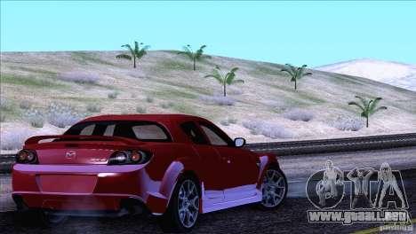Mazda RX8 R3 2011 para la vista superior GTA San Andreas