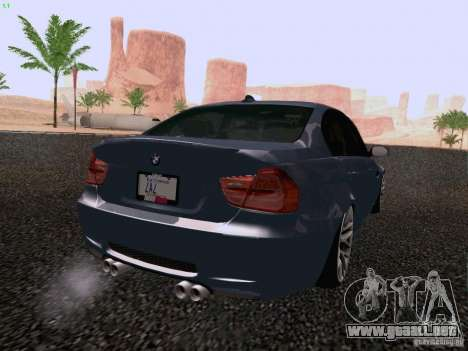 BMW M3 E90 Sedan 2009 para GTA San Andreas left