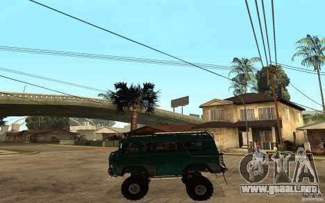 Pan UAZ duro todoterreno para GTA San Andreas left