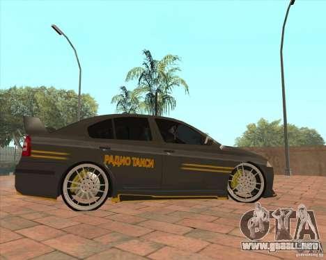 Skoda Octavia Taxi para GTA San Andreas left