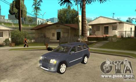 Jeep Grand Cherokee SRT8 v2.0 para GTA San Andreas