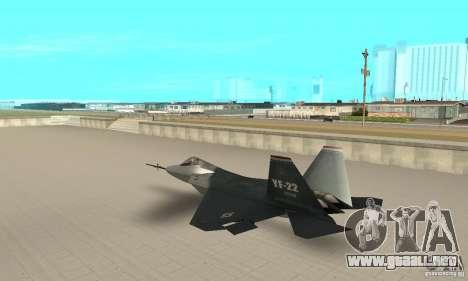 YF-22 Standart para GTA San Andreas vista posterior izquierda
