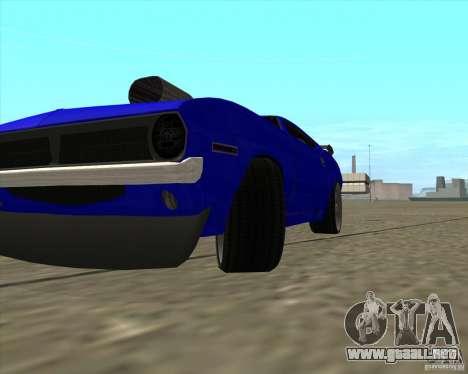 Plymouth Hemi Cuda de NFS Carbon para GTA San Andreas vista hacia atrás