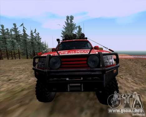Toyota Land Cruiser 100 Off-Road para visión interna GTA San Andreas