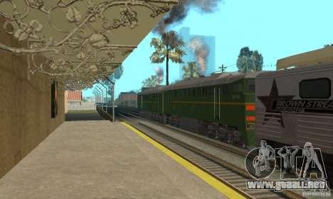 Locomotora 2te116 para GTA San Andreas left