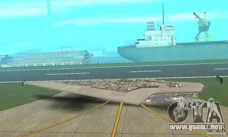Executor Class Stardestroyer para GTA San Andreas vista posterior izquierda