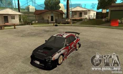Subaru Impreza 2002 Tunable - Stock para el motor de GTA San Andreas