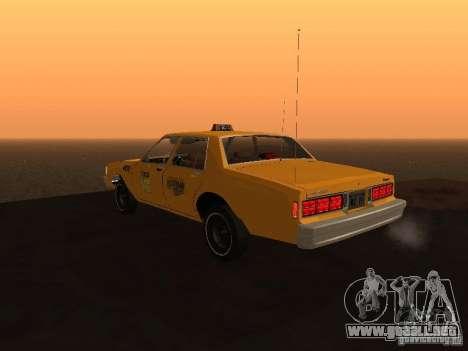 Chevrolet Caprice 1986 Taxi para GTA San Andreas left