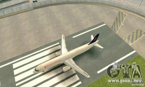 Airbus A321 Air Canada para GTA San Andreas left