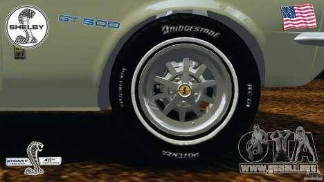 Shelby GT 500 para GTA 4 vista superior