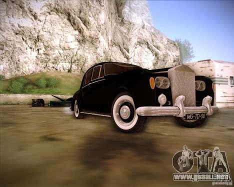 Rolls Royce Silver Cloud III para GTA San Andreas vista hacia atrás