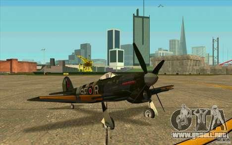 Hawker Typhoon para GTA San Andreas left