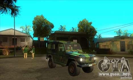 Mercedes Wolf para GTA San Andreas vista hacia atrás