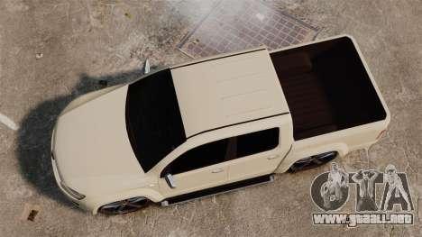Volkswagen Amarok Light Tuning para GTA 4 visión correcta