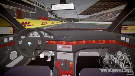 BMW 530I E39 stock chrome wheels para GTA 4 vista superior