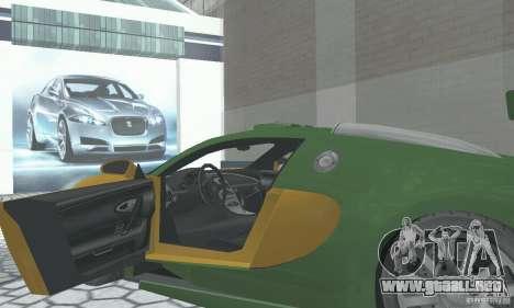 Bugatti Veyron 2005 para GTA San Andreas vista hacia atrás