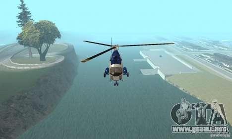 Mi-2 canales para GTA San Andreas vista hacia atrás