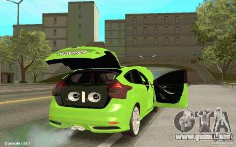 Ford Focus para GTA San Andreas left