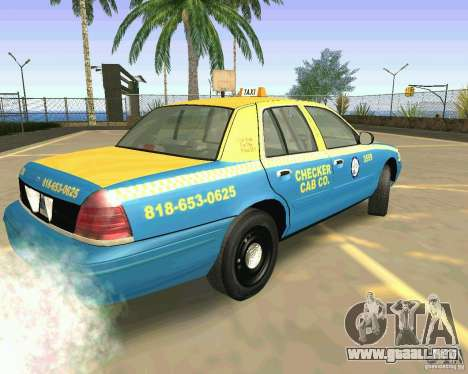 Ford Crown Victoria 2003 Taxi Cab para GTA San Andreas left