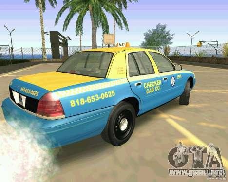 Ford Crown Victoria 2003 Taxi Cab para GTA San Andreas left
