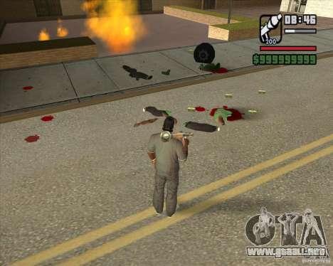 Real Ragdoll Mod Update 2011.09.15 para GTA San Andreas quinta pantalla