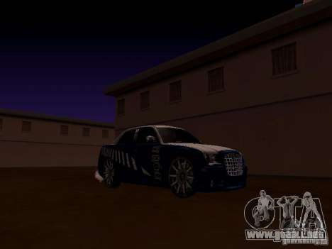 Chrysler 300 c SRT8 2007 para vista lateral GTA San Andreas