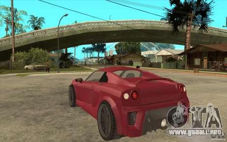 Mastretta MXT para GTA San Andreas vista posterior izquierda