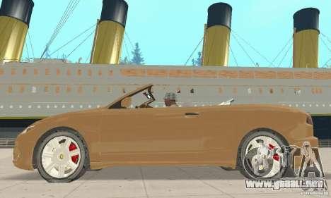 Chrysler Cabrio para GTA San Andreas vista posterior izquierda