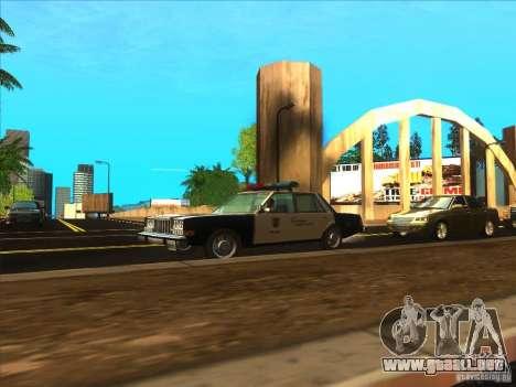 Dodge Diplomat 1985 LAPD Police para la visión correcta GTA San Andreas