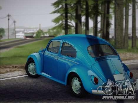 Volkswagen Beetle 1967 V.1 para la visión correcta GTA San Andreas