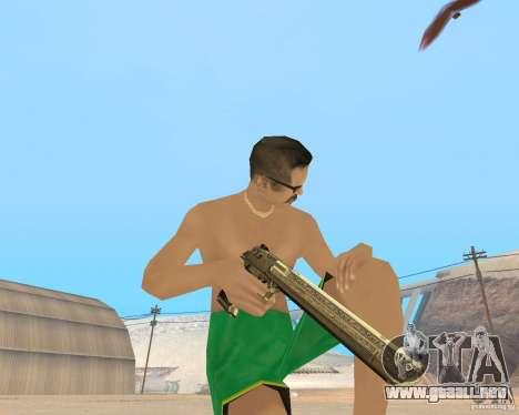 Gold weapons pack para GTA San Andreas segunda pantalla