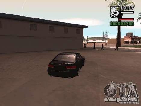 Hyundai Sonata Edit para la visión correcta GTA San Andreas