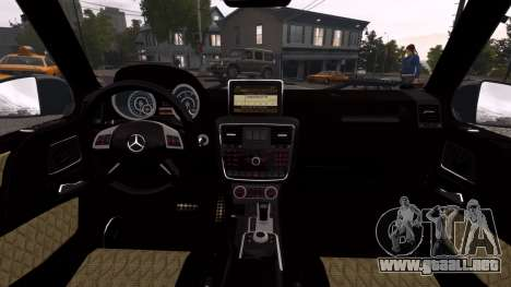 Mercedes-Benz G65 2013 AMG para GTA 4 visión correcta