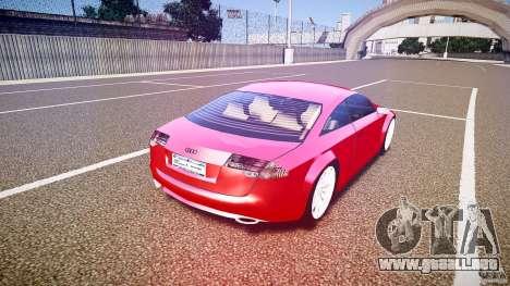Audi Nuvollari Quattro para GTA 4 vista superior
