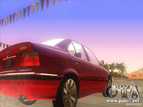 BMW E36 para GTA San Andreas vista hacia atrás