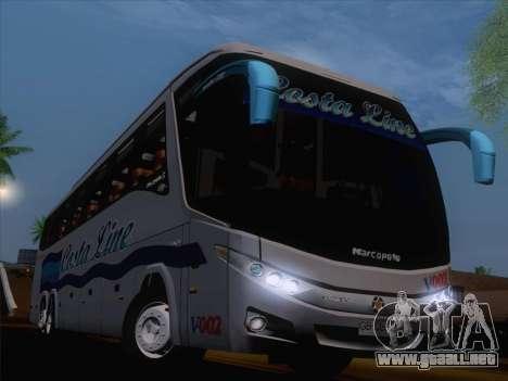 Marcopolo Paradiso 1200 G7 Volvo B12R para visión interna GTA San Andreas