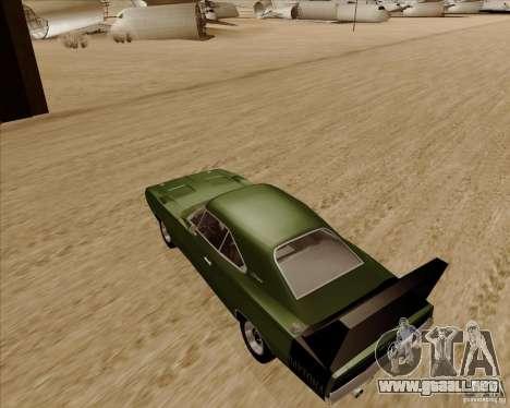 Dodge Charger Daytona 1969 para GTA San Andreas vista posterior izquierda