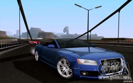 Audi S5 Cabriolet 2010 para GTA San Andreas vista posterior izquierda