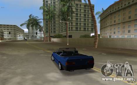 BMW M3 E30 Cabrio para GTA Vice City vista lateral izquierdo