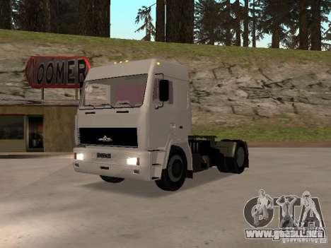 MAZ 5440 para GTA San Andreas left