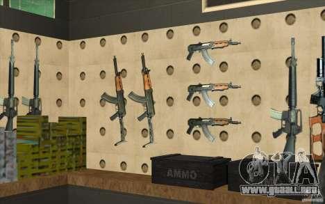 Tienda de armas e. k. S. T. A. L. R para GTA San Andreas novena de pantalla