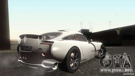 TVR Sagaris 2005 V1.0 para GTA San Andreas vista hacia atrás