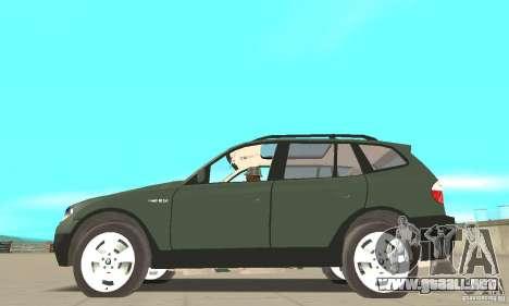 BMW X3 2.5i 2003 para GTA San Andreas left
