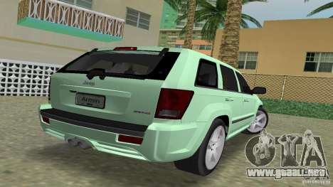 Jeep Grand Cherokee para GTA Vice City left