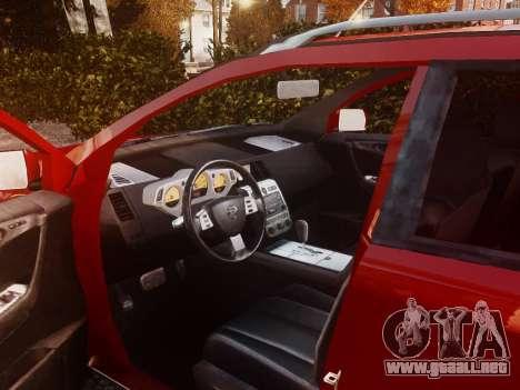 Nissan Murano Ti Z50 para GTA 4 vista interior