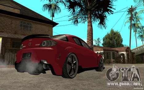 Mazda RX-8 Time Attack JDM para la visión correcta GTA San Andreas