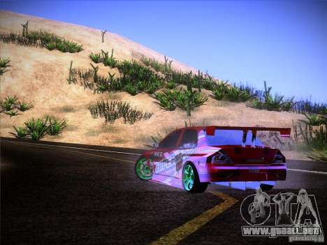 Mitsubishi Lancer Evolution 9 Hypermax para la vista superior GTA San Andreas