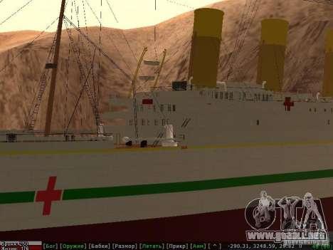 HMHS Britannic para vista inferior GTA San Andreas