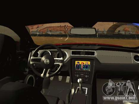 Ford Shelby GT500 para GTA San Andreas vista hacia atrás